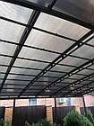 Навес металлический полупрозрачный (поликарбонат), фото 2