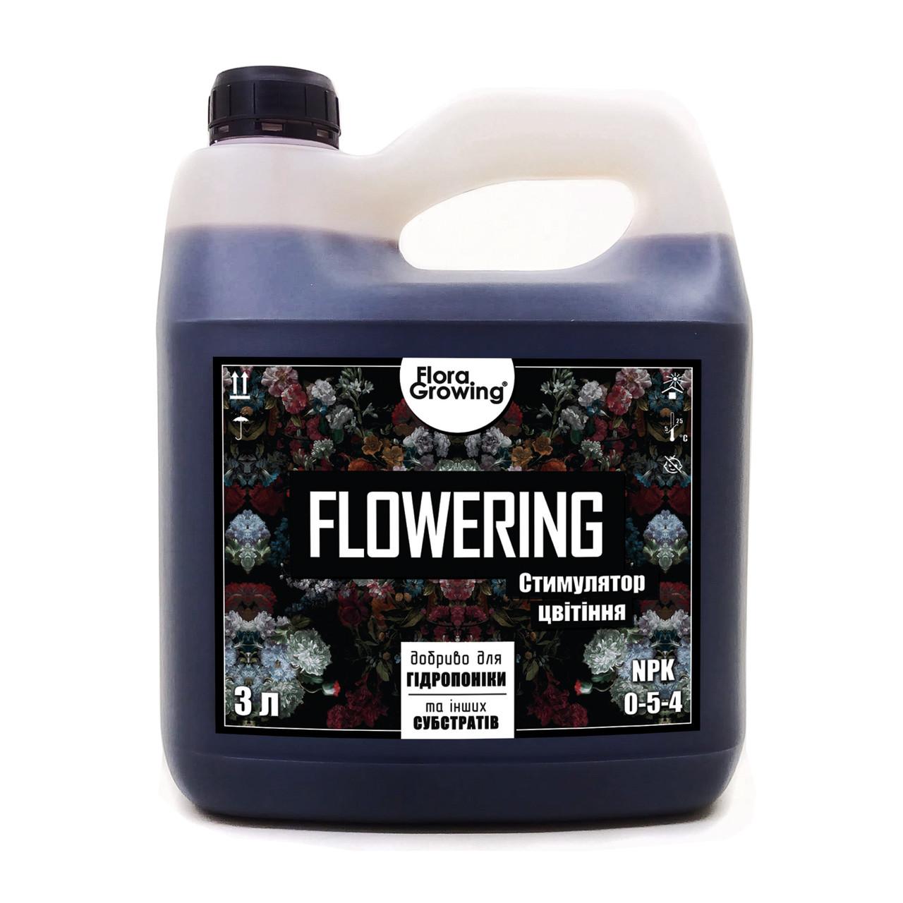 3 л Flowering - Стимулятор цветения для гидропоники и почвы аналог Ripen