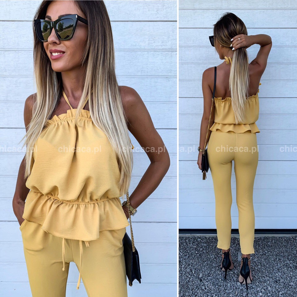 Женский костюм желтый 4 расцветки
