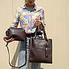 """Комплект из 2 сумок коричневый """"Набор Гравитация Brown"""""""