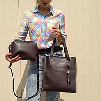 """Комплект из 2 сумок коричневый """"Набор Гравитация Brown"""", фото 1"""