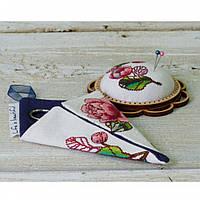 """Набір для креативного рукоділля """"Чохол для ножиць малий білий """" Квіти"""""""
