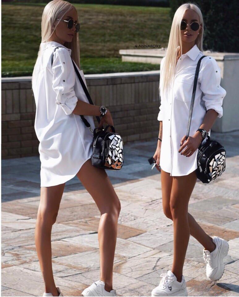 Платье-рубашка модная