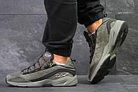 Мужские кроссовки Reebok,замшевые,темно зеленые