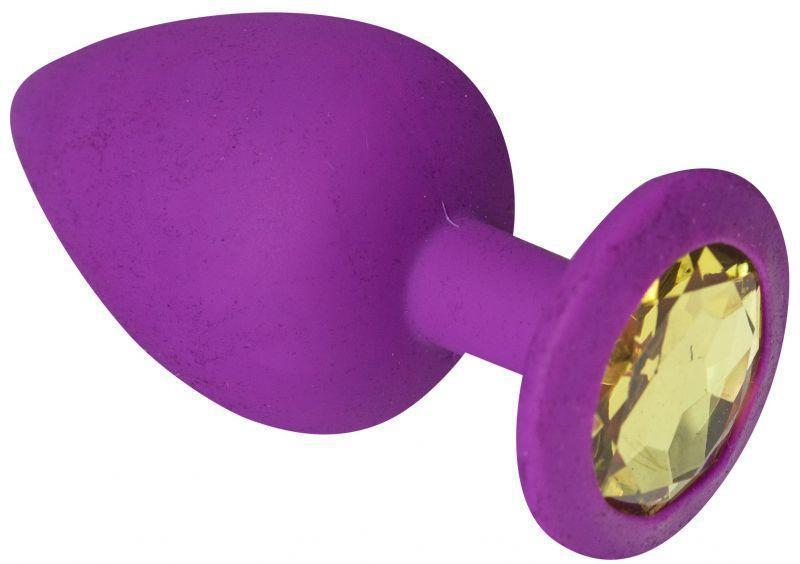Анальная пробка, Purple Silicone Beryl, L