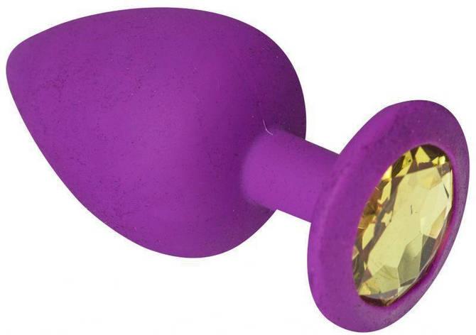 Анальная пробка, Purple Silicone Beryl, L, фото 2