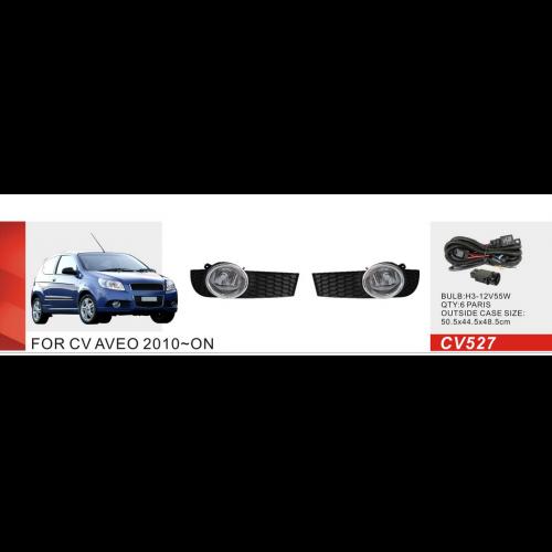 Противотуманные фары Vitol CV-527W Chevrolet Aveo Hatchback 2010-12 эл.проводка