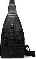 Сумка ALLIGATOR Мужская сумка на одно плечо слинг Alligator Черная (109206-2799) SKU_109206-2799
