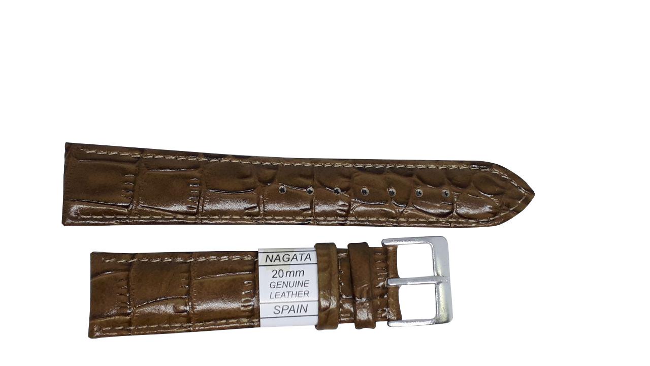 """Ремешок """"Nagata"""" 20mm болотно-коричневый"""