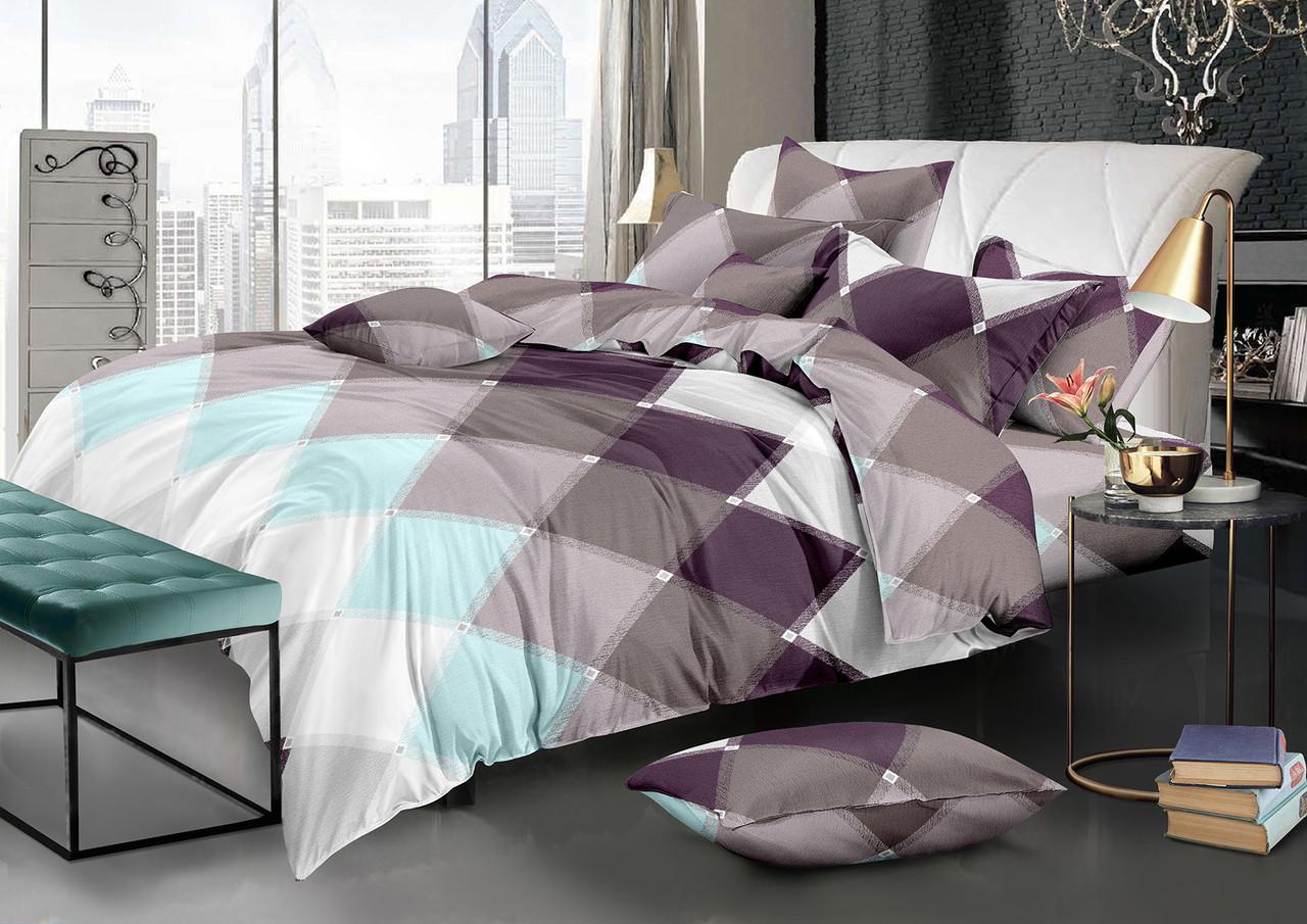 Двуспальный комплект постельного белья евро 200*220 хлопок  (12339) TM KRISPOL Украина