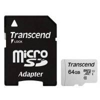 Карта памяти TRANSCEND microSDXC 300S 64GB UHS-I U1 + ad