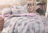 Постельный комплект из сатина Розово-серый,  хлопок 100%