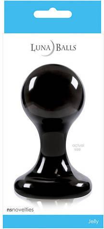 Анальная пробка LUNA BALLS LARGE BLACK, фото 2