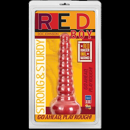Анальная пробка Doc Johnson Red Boy - Red Ringer Anal Wand, фото 2
