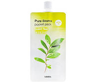 Маска для лица с зеленым чаем Missha Pure Source Pocket Pack Green Tea 10ml (M0105)