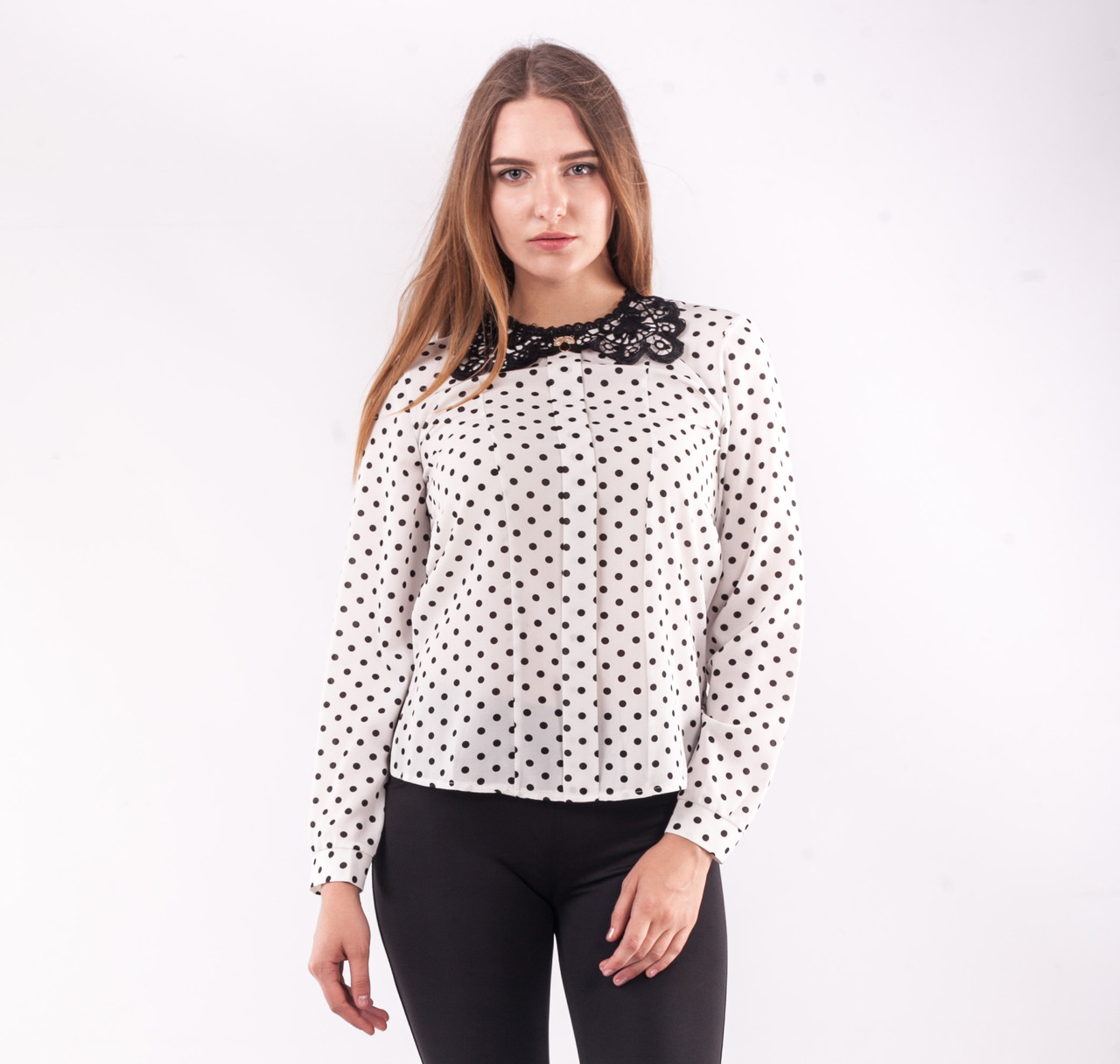 Блузка женская с кружевным воротничком