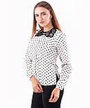 Блузка женская с кружевным воротничком , фото 2