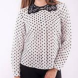 Блузка женская с кружевным воротничком , фото 4