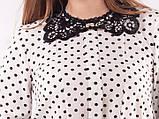 Блузка женская с кружевным воротничком , фото 5