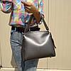 """Женская повседневная сумка на 2 ручки """"Адель Silver"""""""