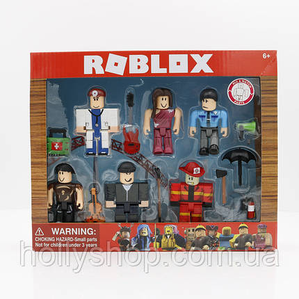 Набор фигурок Roblox «Профессии»: 6 фигурок и предметы, фото 2