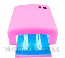 Ультрафиолетовая лампа для сушки гель-лака 36 Вт, розовый