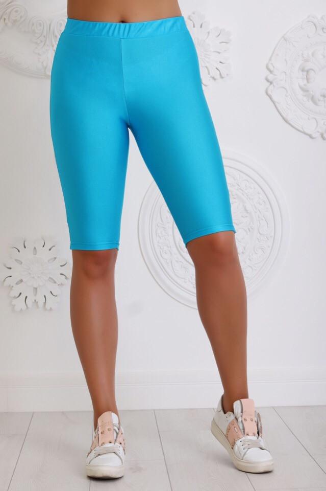 Шорты женские для спорта из бифлекса на резинке (К28466)