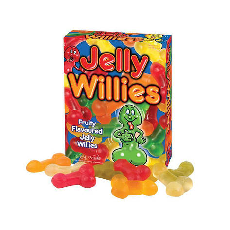 Желейные конфеты в виде пениса Jelly Willies (120 гр), фото 2