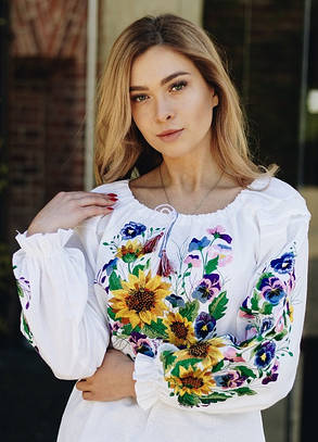 Шикарная женская вышитая блуза Марьяна, фото 2