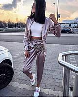Женский атласный костюм 3 расцветки