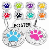 Адресники  емальовані  для собак і котів Лапка