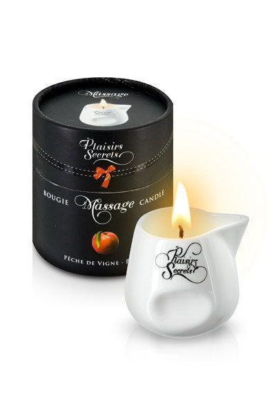 Массажная свеча Plaisirs Secrets Peach (80 мл)