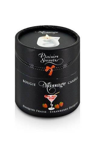 Массажная свеча Plaisirs Secrets Strawberry Daiquiri (80 мл), фото 2