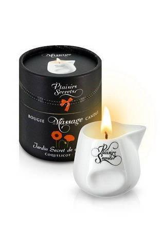 Массажная свеча Plaisirs Secrets Poppy (80 мл), фото 2