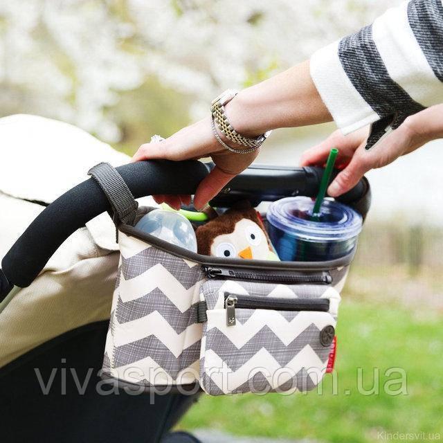 Сумка-органайзер на ручку детской коляски