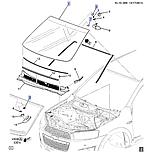 Стекло лобовое подогрев щеток датчик дожля, Каптива C140, 42526329, фото 7