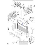 Радиатор охлаждения Каптива Антара АКП 2.2d, Captiva C140 Antara, 42400244, фото 4
