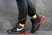 Мужские весенние кроссовки Nike,черные с красным