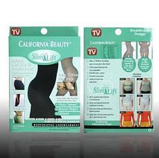 Белье для коррекции фигуры California Beauty Slim N Lift | Утягивающие шорты с высокой талией размер XXL, фото 3