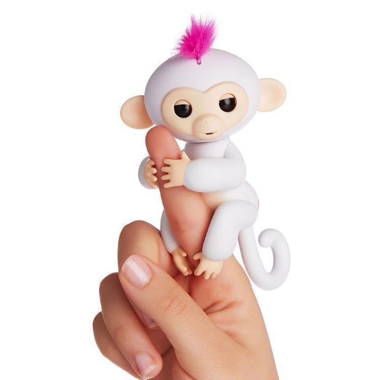 Интерактивная обезьянка Fingerlings (Белая)