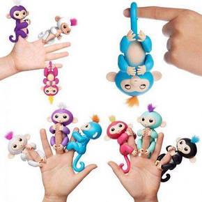 Интерактивная обезьянка Fingerlings (Голубая), фото 2