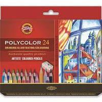 Карандаши цветные художественные 24 цвета K-i-N Polycolor 3834