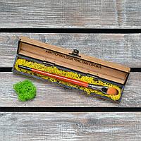 Кисточка для чистки пупка. Наполнение стабилизированный мох. (А00706)