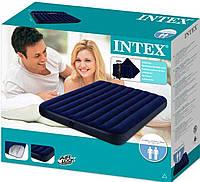 Матрас надувной Intex 68765, 152 х 203 х 22 см, с двумя подушками, насосом. Двухместный,матрац,надувной