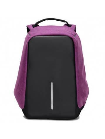 Рюкзак Bobby Антивор фиолетовый с USB портом, фото 2