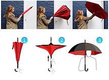 Ветрозащитный зонт Up-Brella антизонт Зонт обратного сложения (Одуванчик), фото 2