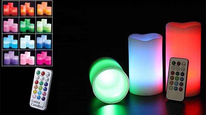 Светодиодные свечи с пультом управления Luma Candles Люма Кендлес (electronic candle)