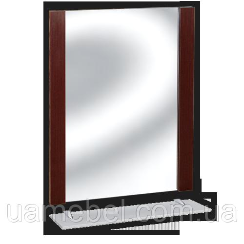 Зеркало в ванную без света З-19 (с полкой)