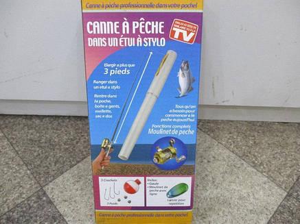 Складная походная мини-удочка + катушка, ручка, фото 2