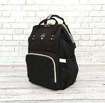 Сумка-рюкзак для мам LeQueen. Черный, фото 2